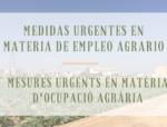 Medidas urgentes en materia de empleo agrario